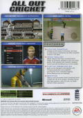 Cricket 2005 Xbox Back Cover