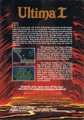 Ultima I: The First Age of Darkness Commodore 64 Back Cover