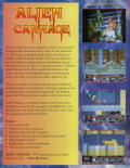 Alien Carnage DOS Back Cover