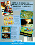 Iron Lord Commodore 64 Back Cover