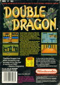Double Dragon NES Back Cover