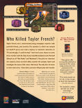 Who Killed Taylor French?: The Case of the Undressed Reporter Windows Back Cover