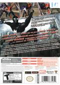 Spider-Man: Web of Shadows Wii Back Cover