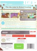 Animal Crossing: City Folk Wii Other Keep Case - Back