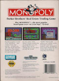 Monopoly Genesis Back Cover
