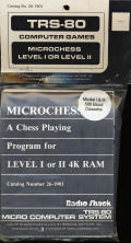 Microchess TRS-80 Front Cover
