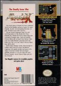 Abadox: The Deadly Inner War NES Back Cover