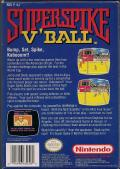 Super Spike V'Ball NES Back Cover