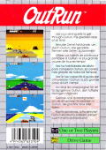 OutRun Game Gear Back Cover