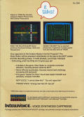 TRON: Solar Sailer Intellivision Back Cover