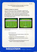 Tennis Intellivision Back Cover