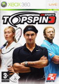 Top Spin 3 Xbox 360 Front Cover