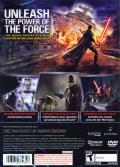 Star Wars: The Force Unleashed PlayStation 2 Back Cover
