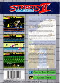 Streets of Rage 2 Game Gear Back Cover