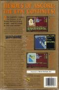 Treasures of the Savage Frontier DOS Back Cover