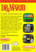 Dr. Mario NES Back Cover
