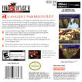 Final Fantasy III Game Boy Advance Back Cover