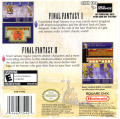 Final Fantasy I & II: Dawn of Souls Game Boy Advance Back Cover