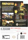 Real Heroes: Firefighter Wii Back Cover