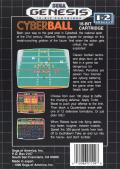 Cyberball Genesis Back Cover