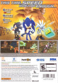 Sonic the Hedgehog Xbox 360 Back Cover