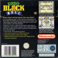 Kirby's Block Ball Game Boy Back Cover