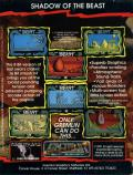 Shadow of the Beast ZX Spectrum Back Cover