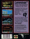 Lemmings ZX Spectrum Back Cover
