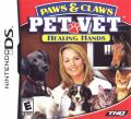 Paws & Claws: Pet Vet - Healing Hands Nintendo DS Front Cover