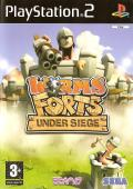 Worms Forts: Under Siege PlayStation 2 Front Cover