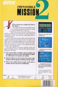 Impossible Mission II Commodore 64 Back Cover