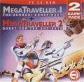 MegaTraveller 1: The Zhodani Conspiracy + MegaTraveller 2: Quest for the Ancients DOS Front Cover