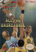 All-Pro Basketball NES Front Cover