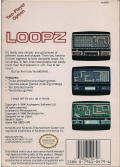Loopz NES Back Cover