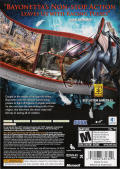 Bayonetta Xbox 360 Back Cover