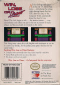Win, Lose, or Draw NES Back Cover
