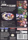 Sonic Heroes GameCube Back Cover