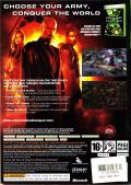Command & Conquer 3: Kane's Wrath Xbox 360 Back Cover