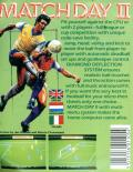 Match Day II MSX Back Cover