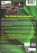 Tennis Masters Series 2003 Xbox Back Cover