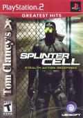 Tom Clancy's Splinter Cell PlayStation 2 Front Cover