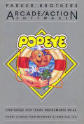 Popeye TI-99/4A Front Cover
