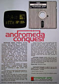 Andromeda Conquest Apple II Back Cover