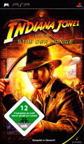 Indiana Jones and the Staff of Kings PSP Front Cover