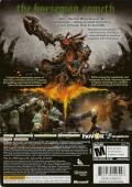 Darksiders Xbox 360 Back Cover