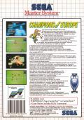 Champions of Europe SEGA Master System Back Cover
