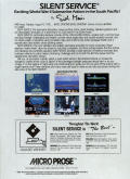 Silent Service Commodore 64 Back Cover