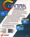Contra Commodore 64 Back Cover