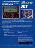 Acrojet Commodore 64 Back Cover