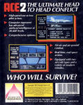 ACE 2 Commodore 64 Back Cover